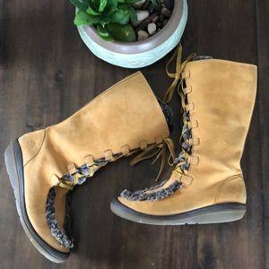 Timberland Kickadilla Faux Fur lined Lace up Boots